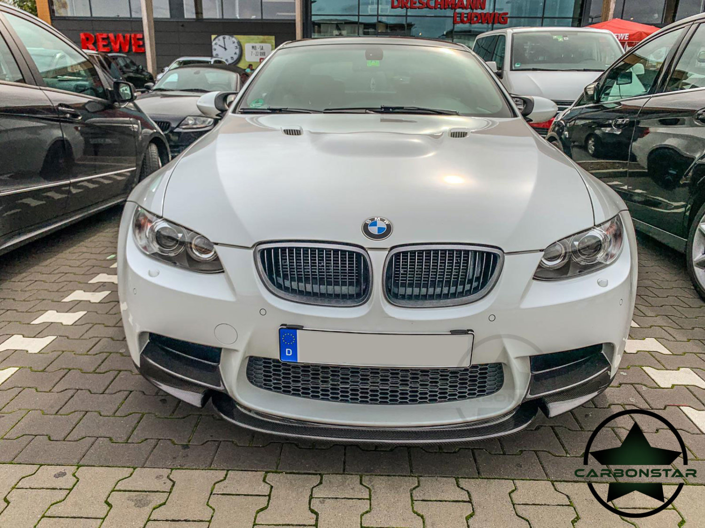 Cstar Carbon Gfk Crt Frontlippe Lippe passt mit Flaps passend für BMW E90 E92 E93 M3
