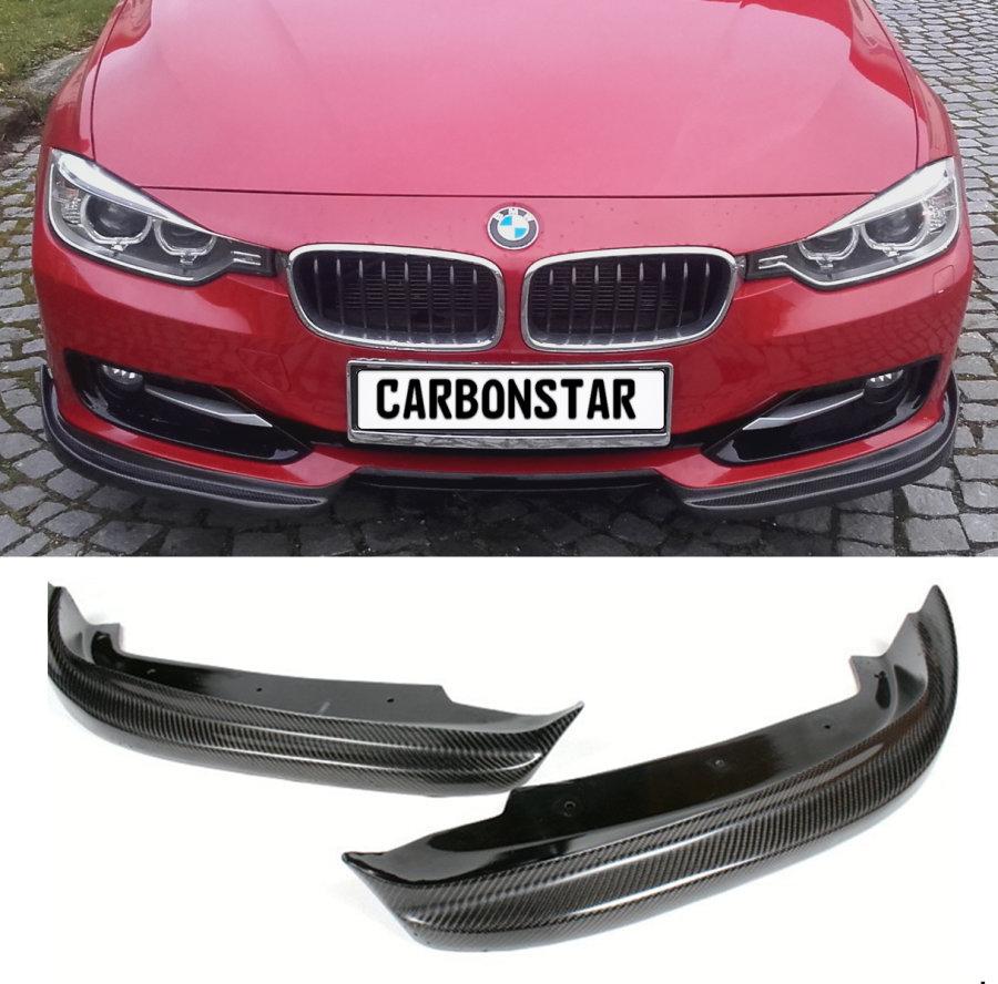 Cstar Carbon Gfk Flaps Splitter passend für BMW F30 F31 OHNE M Paket Vor LCI