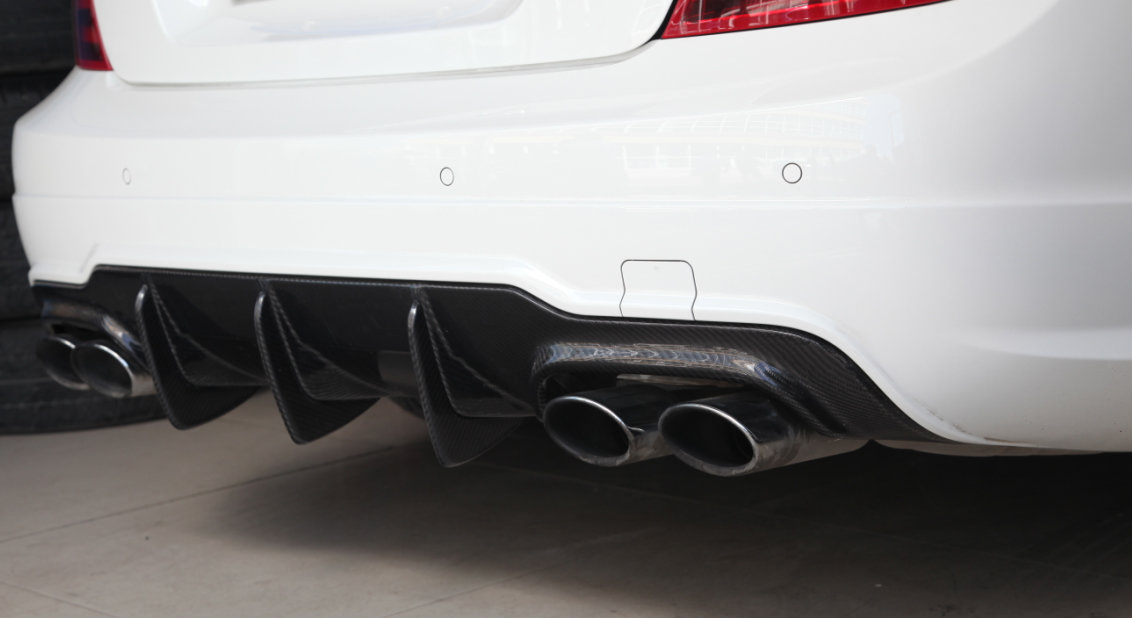 Cstar Carbon Gfk Heckdiffusor Big Fins passend für Mercedes Benz W204 C204 AMG C63 Coupe Limo MOPF