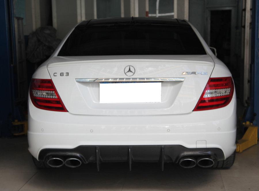 Cstar Carbon Gfk Heckdiffusor Big Fins passend für Mercedes Benz W204 C204 AMG C63 Coupe Limo MOPF