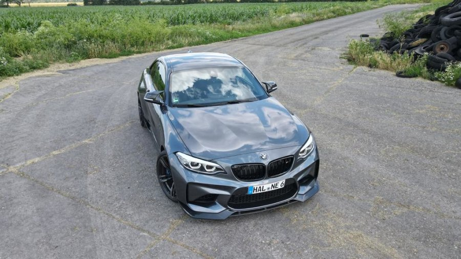 Cstar Carbon Gfk Frontlippe V-Style - Flaps, Splitter passend für BMW M2 F87