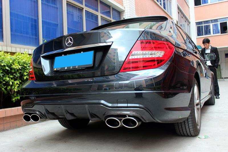 Cstar Carbon Gfk Heckdiffusor passend für Mercedes Benz W204 C204 AMG C63 Coupe Limo MOPF
