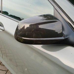 Cstar Carbon Gfk Spiegelkappen Cover Abdeckung Spiegel passend für BMW F10 F11 F18  2010-2014 VFL