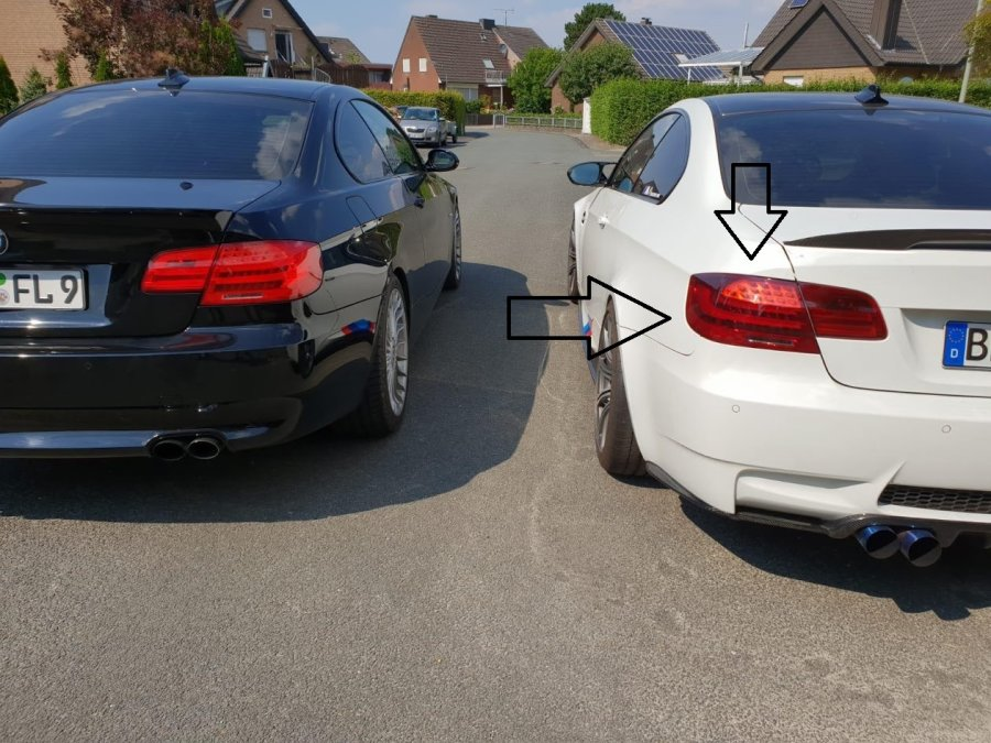 Depo Umbau LED Rückleuchten LCI Red Rot Smoke passend für BMW E92 +M3