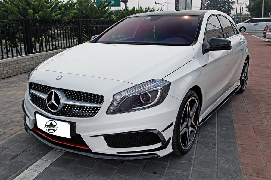 Cstar Carbon Gfk Frontlippe Spoiler Front Lippe Style für Mercedes Benz W176 A45 AMG