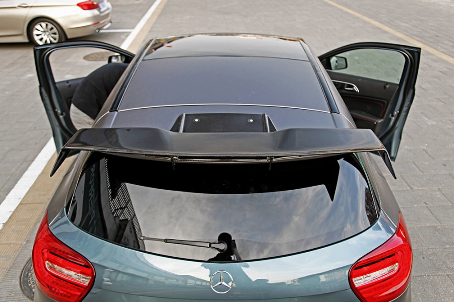 Cstar Carbon Gfk Dachspoiler Flügel Dach Spoiler für Mercedes Benz W176 A45 AMG