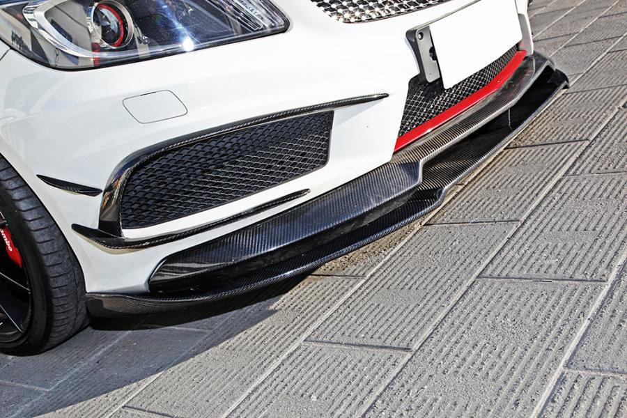 Cstar Carbon Gfk Frontlippe Lippe 2tlg. für Mercedes Benz W176 A45 AMG