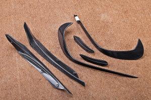 Cstar Carbon Canards Wings 6 tlg. für Mercedes Benz W176 A45 AMG