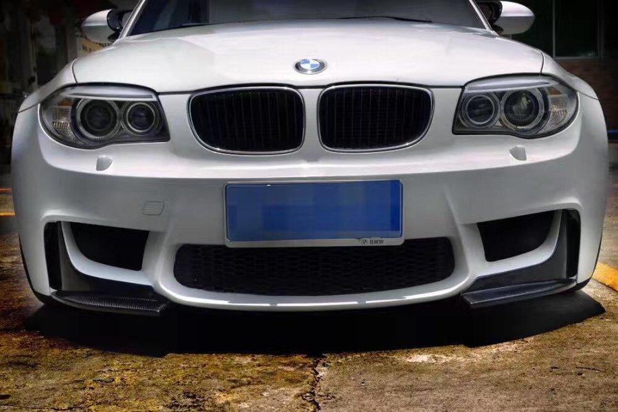 Cstar Carbon Gfk Frontlippe Frontspoiler Splitter Flaps ähnlich Performance passend für BMW E82 1M