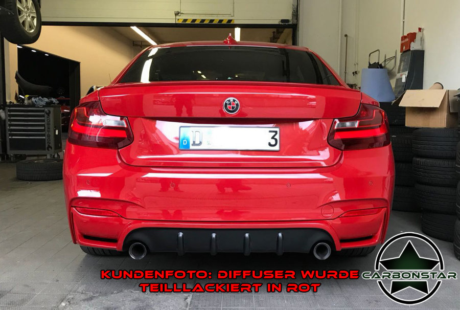 Cstar Gfk Heckdiffusor ähnlich Performance V1 passend für BMW F22 F23 M Paket 235i 240i