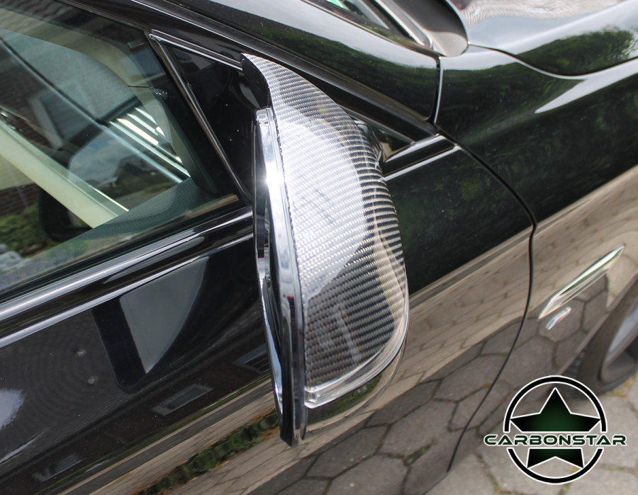 Cstar Carbon ABS Spiegelkappen Abdeckung Spiegel passend für BMW F06 F12 F13 >2014 Facelift