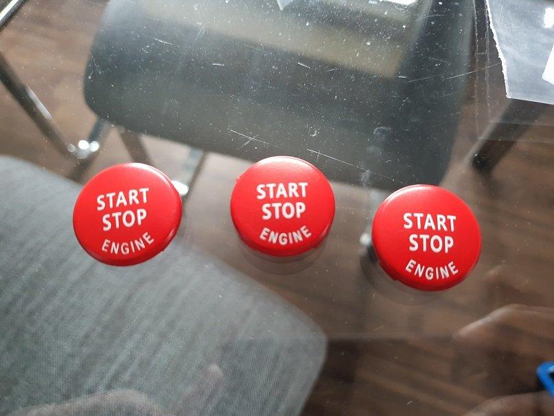 Cstar Startknopf ROT passend für BMW E90 E92 E93 M3 / BMW E88 E82 1M