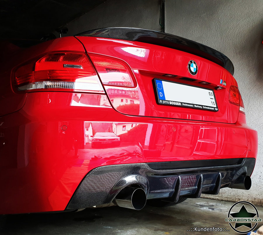 Cstar Carbon Gfk Heckdiffusor Diffusor Heckeinsatz Auspuff passend für BMW E92 E93 335i 335d