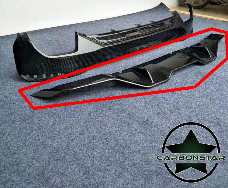 Cstar Carbon Gfk Heckdiffusor Diffusor Typ MP2 Style- Untere Teil passend für BMW G30 G31