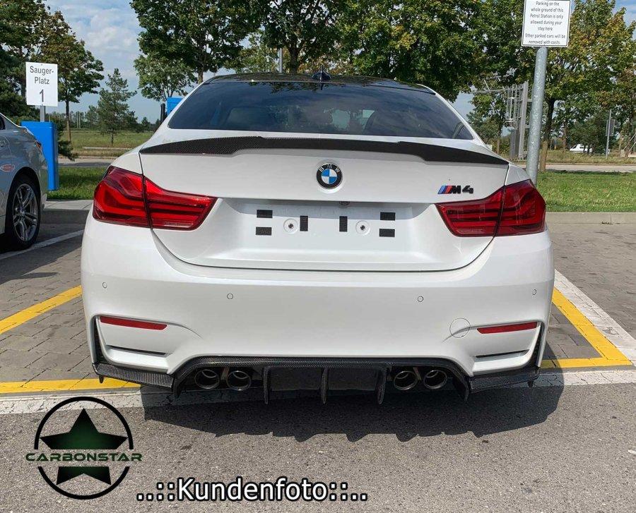 Cstar Carbon Gfk Heckdiffusor Diffusor ähnlich Vorsteiner 3tlg. passend für BMW F80 M3 F82 F83 M4