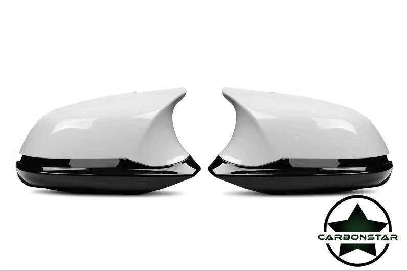 Cstar Spiegel Umbau-Set Alpinweiß Uni 300 Weiß Hochglanz passend für BMW E84 i3
