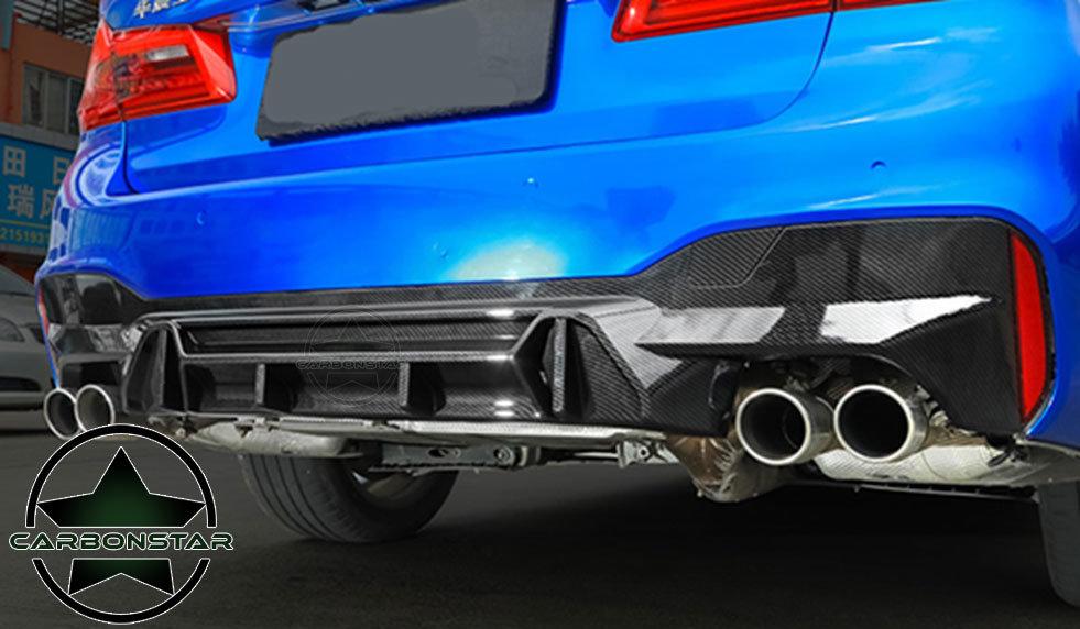 Cstar Carbon Look ABS Diffusor V6 passend für BMW G30 G31 M-Paket