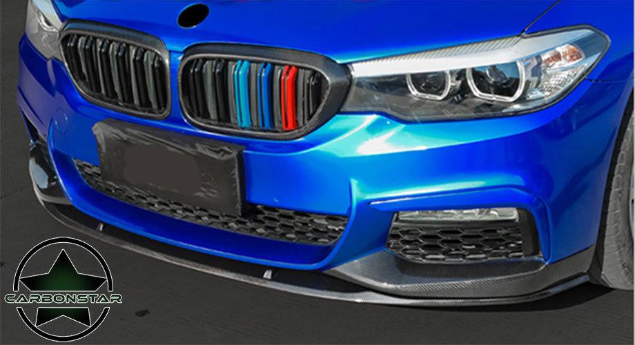 Cstar Carbon Look ABS Frontlippe 3-Teilig Typ 2 passend für BMW G30 G31 M-Paket