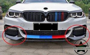 Cstar ABS Splitter Flaps Frontlippe V6 Hochglanz Schwarz passend für BMW G30 G31 M-Paket