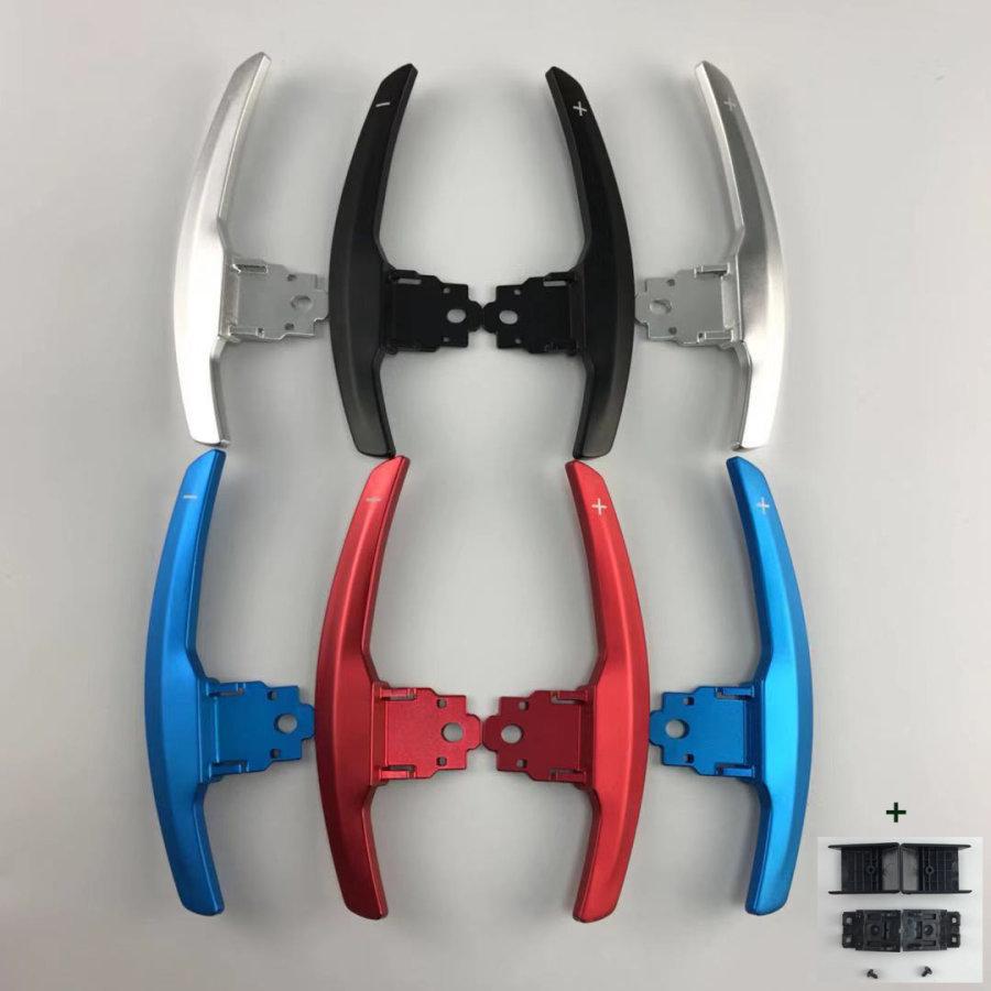 Cstar Schaltwippen Wippen Paddles Aluminium Alu Eloxiert Silber passend für BMW  F20 F21 F22 F23 F30 F31 F32 F34 F36 F12 F06 F13