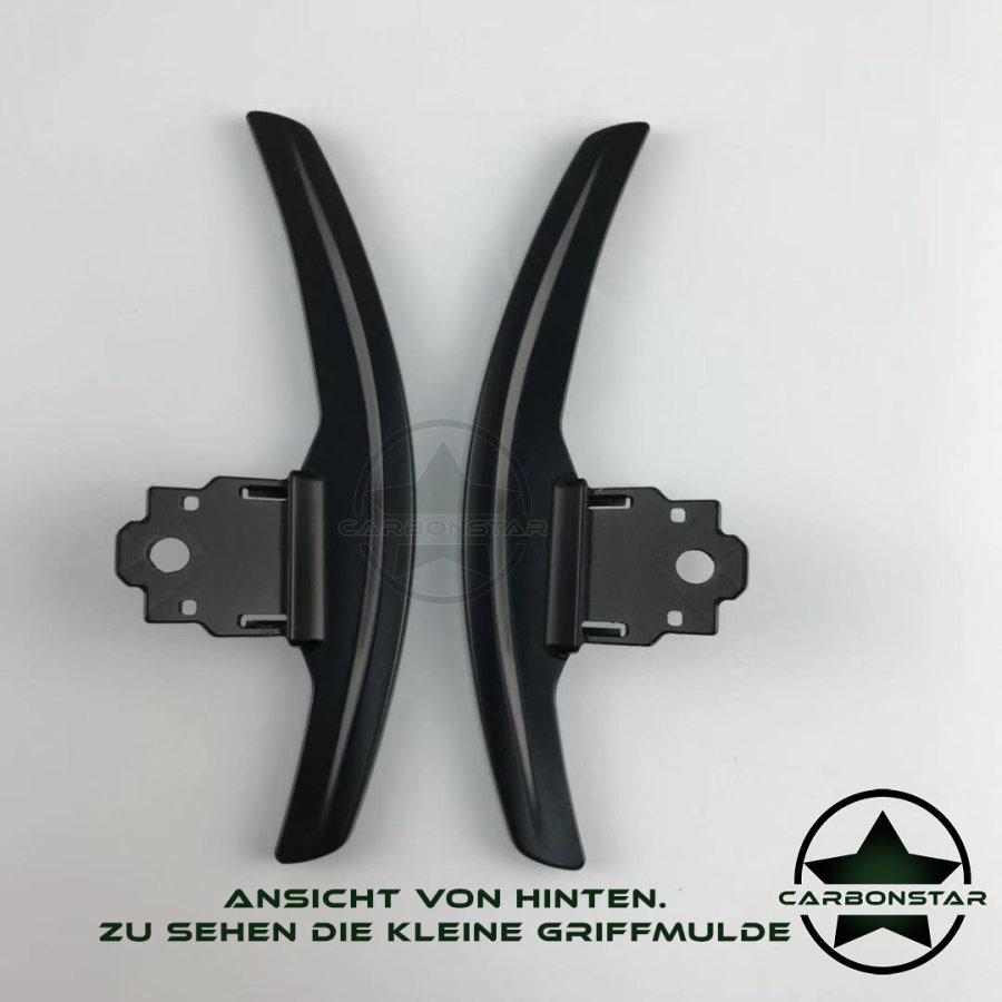 Cstar Schaltwippen Wippen Paddles Aluminium Alu Eloxiert Schwarz passend für BMW F30 F31