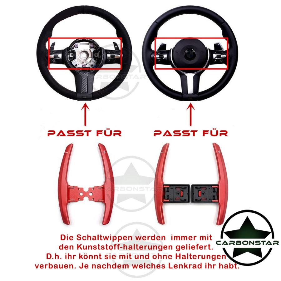Cstar Schaltwippen Wippen Paddles Aluminium Alu Eloxiert Rot passend für BMW F32 F33 F36