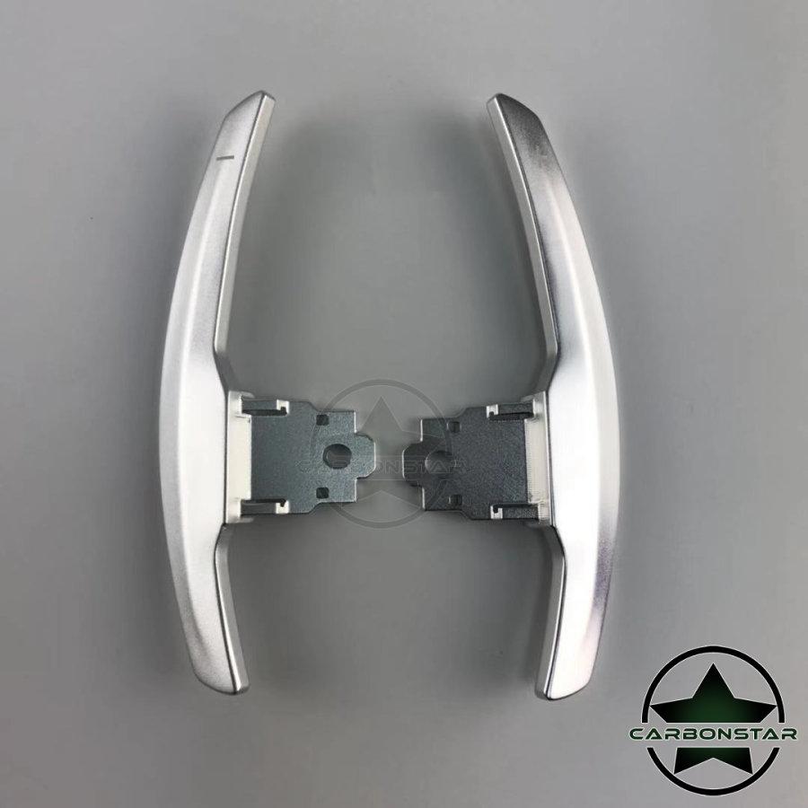 Cstar Schaltwippen Wippen Paddles Aluminium Alu Eloxiert Silber passend für BMW F06 F12 F13 M6