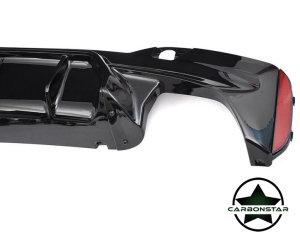 Cstar PP Heckdiffusor Diffusor V5 + Endrohre passend für BMW G30 G31 nicht F90 M5 !