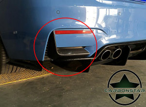 Cstar Carbon Flaps Einsätze Hinten passend für BMW F82 F83 M4 M3 F80