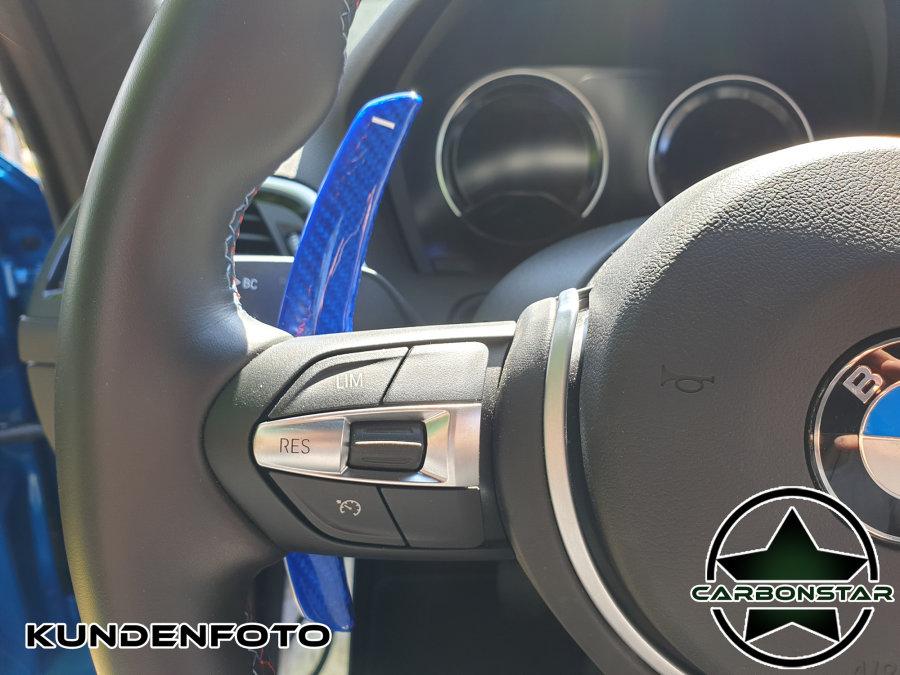 Cstar Schaltwippen Carbon Alu Blau passend für BMW...