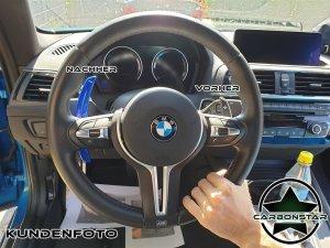 Cstar Schaltwippen Wippen Paddles Carbon Alu Blau passend für BMW F22 F23