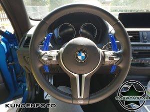 Cstar Schaltwippen Wippen Paddles Carbon Alu Blau passend für BMW F10 M5
