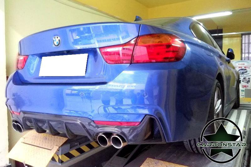 Cstar Gfk Schwarz Heckdiffusor Diffusor 00==00 passend für BMW F32 F33 F36