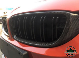 Cstar Carbon ABS Nieren Grill Doppelsteg Schwarz Hochglanz passend für BMW M4 F82 F83 M3 F80 F32 F33 F36