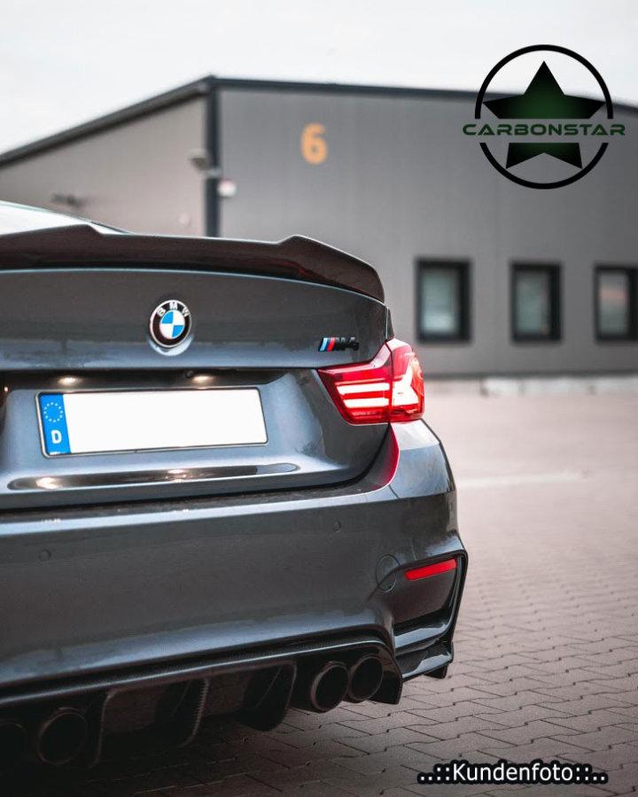 Cstar Carbon Gfk Heckspoiler Kofferraumlippe ähnlich PSM passend für BMW F82 M4