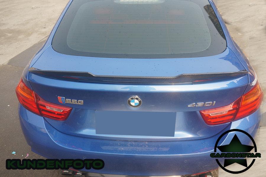 Cstar Heckspoiler Carbon Gfk PSM Big V Style passend für BMW F36