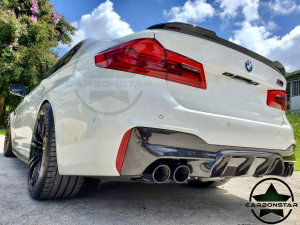 Cstar Carbon Gfk Heckdiffusor Diffusor V3.0 inkl. Endrohre passend für BMW F90 M5 G30 G31 Competition