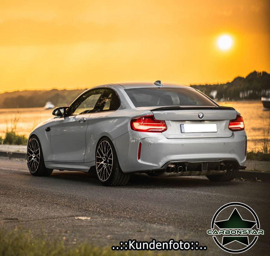 passend f/ür BMW F22 Coupe F87 M2 220i M235i 228i 14-19 PSM STW Karbonfaser-Heckspoiler
