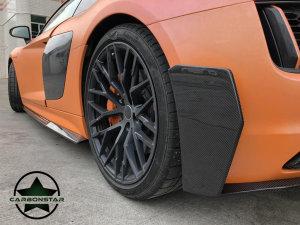 Cstar Fins Abdeckungen Stoßstange Hinten Carbon Gfk für Audi R8 4S 2015 -