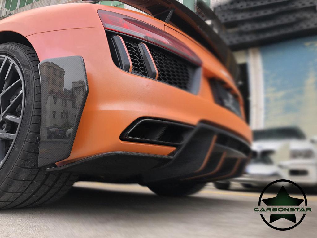 Cstar Splitter Diffusor Stoßstange Hinten Carbon Gfk für Audi R8 4S 2015 -