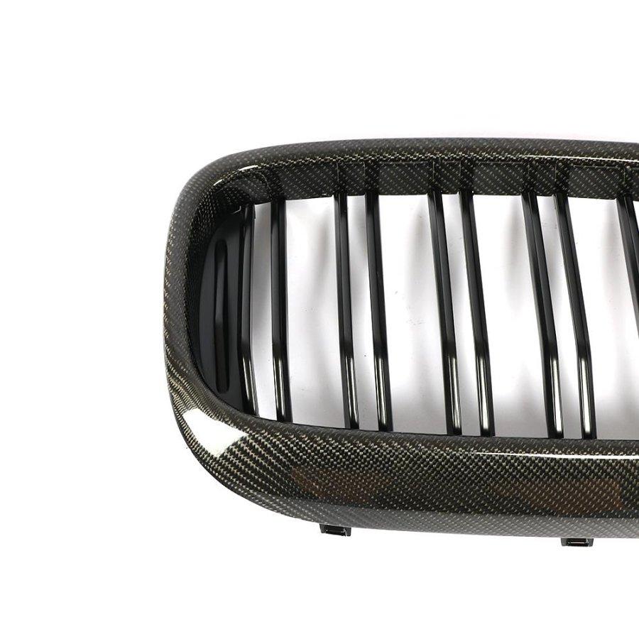 Cstar Carbon Matt Schwarz ABS Nieren Grill Frontziergitter Doppelsteg passend für BMW G30 G31 F90 M5