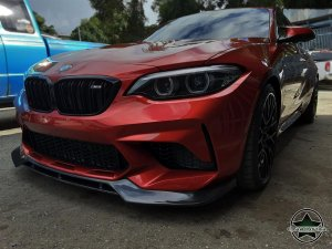 Cstar Carbon Gfk Frontlippe V-Style - Flaps, Splitter passend für BMW M2 F87 Competition
