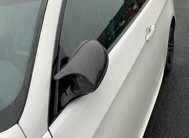 Cstar Carbon ABS Spiegelkappen passend für BMW E81 E82 E87 E88 E92 E93 VFL