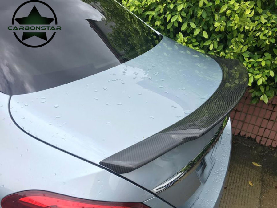 Cstar Heckspoiler Carbon gfk passend für Mercedes Benz W205 Limousine C43 C63 C63s