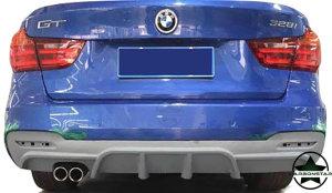 Cstar Gfk Heckdiffusor passend für BMW F34 GT Doppelrohr Links