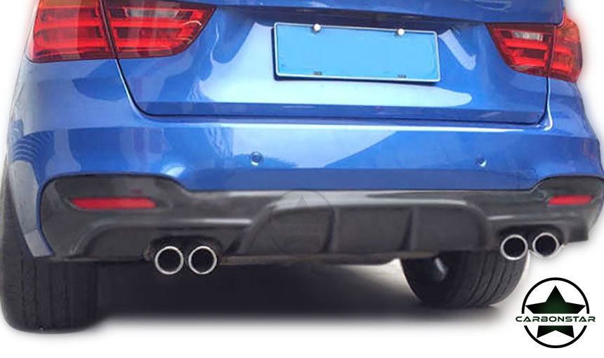 Cstar Gfk Heckdiffusor passend für BMW F34 GT Doppel Ausschnitt Links & Rechts