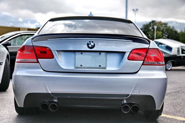 Cstar Carbon Gfk Heckdiffusor passend für BMW E92 E93 M Paket 4 Rohr Doppelrohr Li & Re