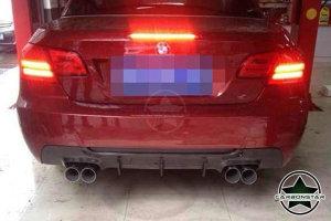 Cstar Carbon GFK Heckdiffusor passend für BMW E92 E93 335i 335d MP Doppelrohr li & re