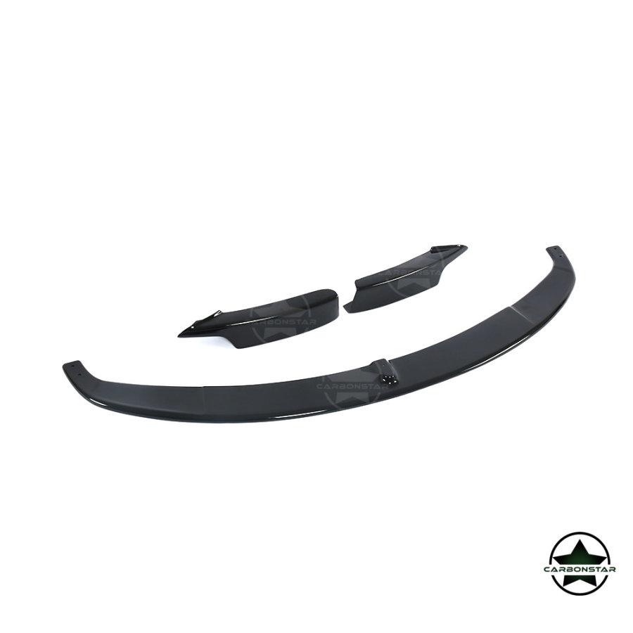 Cstar Frontlippe ABS Schwarz Glanz passend für BMW F30 F31 M Paket LCI und Vor LCI