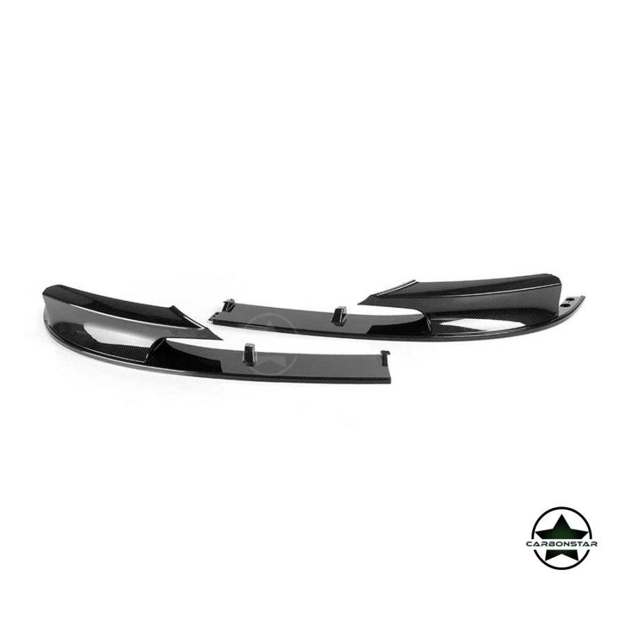 Cstar Frontlippe Splitter ABS Carbon Look Glanz passend für BMW F30 F31 M Paket LCI und vor LCI